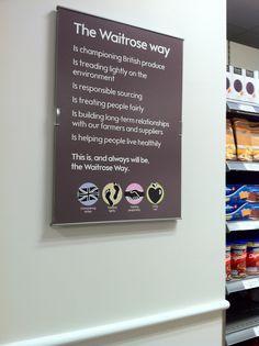 Waitrose - Knightsbridge Tread Lightly, Treat People, Grocery Store, Helping People, Letter Board, British, Cool Stuff, Heart, Hearts