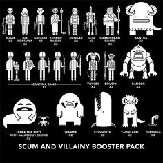 Star Wars Family Car Decals, Scum and Villainy set