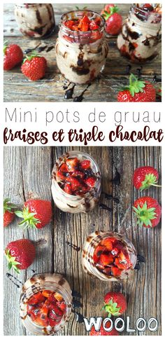 Ce matin, on s'est g Nesquik, Boite A Lunch, Pots, Oatmeal, Clean Eating, Mini, Chocolate Syrup, Raspberry, Strawberries