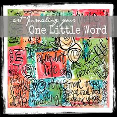 Art Journal Your One Little Word  Scripture Art Journaling Tutorial Art by Erin Leigh