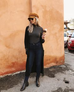 Outfit ideas that incorporate a baker boy hat.
