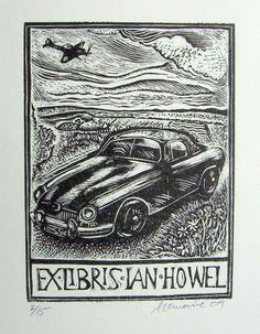 ≡ Bookplate Estate ≡ vintage ex libris labels︱artful book plates - Angela Lemaire for Ian Howel, 2009