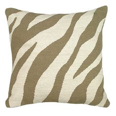 Ballard Zebra Needlepoint Pillow $85