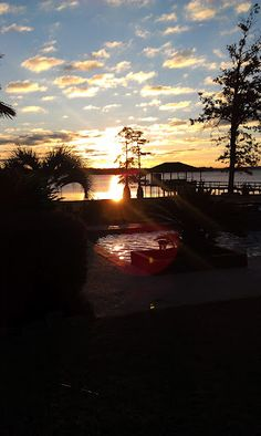 Sunrise on Cross Lake in Shreveport, LA Beautiful lake where my daughter and son in-law got married!!!