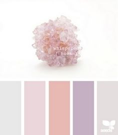 lavender color palette | color palette - soft pinks, peach, gray, and lavender | 1 Day in White