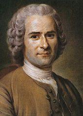 Retrato de Rousseau, echo por Quentin de la  tour.
