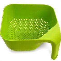 Utilidades Domesticas em Plastico: Escorredor Ergonômico Verde Morph - Presentes Criativos e Decoração Criativa de Sala e Quarto - Monky Design