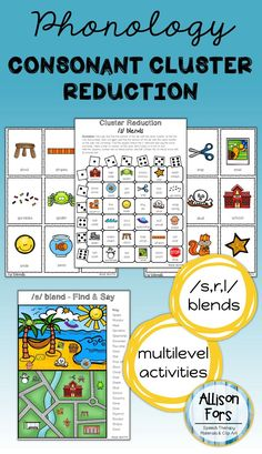 Target the phonological error of cluster reduction with /s/, /r/, and /l/ blends in all positions - step by step with engaging pictures and interactive activities!