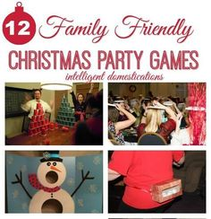 12 Family Friendly Party Games : 12 Family Friendly Christmas Party games for all ages. Get ready to laugh! These games are tons of fun for children and adults. Christmas Party Games For Groups, Work Christmas Party Ideas, Adult Christmas Party, Christmas Games For Adults, Family Party Games, School Christmas Party, Dinner Party Games, Holiday Party Games, Christmas Family Games