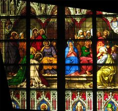 church window, cologne cathedral