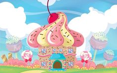 Large Full Color Cupcake Candy Land Birthday Party Banner Photobooth Backdrop