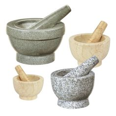 Perfect for making fresh guacamole or grinding dry spices for seasoning steaks, the new Mortars & Pestles from Cilio by Frieling can grind whole spices and herbs quickly and easily, releasing their full flavor and essential oils.