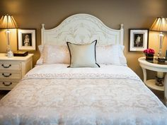 Neutral Bedroom With Touches of Pink : Designers' Portfolio : HGTV - Home & Garden Television