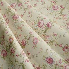 Cream background with delicate rose flowers in dusky pinks and peach with a hint of sage green leaves. On Trend fabrics specialise in fashion fabrics and trims for dressmaking. Classic cotton poplin suitable for all kinds of crafts and dress making. Cream Curtains, Cotton Curtains, Fabric Yarn, Cool Fabric, Trend Fabrics, Floral Print Design, French Fabric, Cream Roses, Vintage Stil