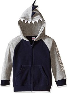 Gymboree Boys Toddler Boys Zip Front Dinosaur Hoodie Dark Marine 612 >>> Click image to review more details. (This is an affiliate link) #BabyBoyHoodiesActive