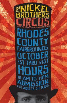 Modern type-based circus poster