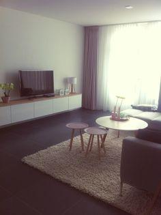 Tv meubel ikea met eiken plank