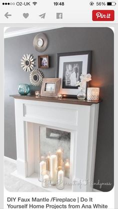 Fire place mirror idea x