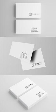 Vinyl dj business card businesscards music psdtemplates white modern business card 2 business card templates 400 reheart Images