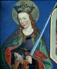 Hl. Katharina 1482-1482; Mellaun; Italien; Südtirol; Filialkirche St. Johannes Evangelist  http://tarvos.imareal.oeaw.ac.at/server/images/7004292.JPG