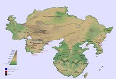 alternative geography world maps - Bing images Map Symbols, Fantasy World Map, Imaginary Maps, Alternate History, Dungeons And Dragons, Geology, Science Fiction, Places To Visit, Fan Art