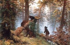 Morning in the Pine Forest by Ivan Shishkin