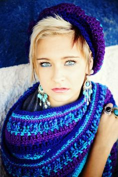 Blue and Purple Scarf Womens Scarf Teen Scarf Sparkle Scarf Winter Scarf Teen Girl Gift Idea Winter Fashion Hand Crocheted Items Long Scarf by foreverandrea on Etsy