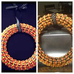 Melted candy corn wreath - Epic Pinterest Fail!