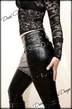 Black Panther - BIKER WETLOOK SKIRT Rock Glamour Glamrock Newrock Deathrock Gothic Punk Ebm Industrial Fetish Latex casual stylish Sexy Hot. €34.00, via Etsy.