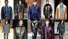 FW 2014 ~ LEATHER Fashion Week 2015, Mens Fashion Week, New York Fashion, Paris Fashion, Fashion Trends, Leather Trench Coat, Leather Trousers, Leather Jackets, Fashion Forecasting