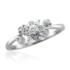 14k White Gold Diamond Ring Band (HI, SI2-I1, 0.20 carat)