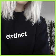 Extinct Sweatshirt 90s Internet Explorer Vaporwave Tumblr Inspired Sweatshirts Pale Pastel Grunge Aesthetic Black Grid