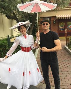 She's Mary Poppins Y'all!! Michael Rooker and Mary Poppins at Disneyland Park/ Guardians of the Galaxy Vol 2!
