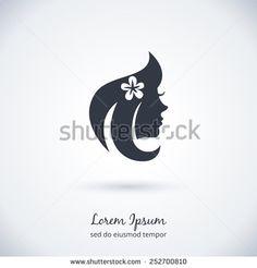 Beautiful woman Logo for beauty salon, spa salon, firm or company. Vector illustration More