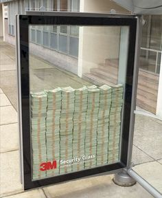 $500 behind security glass at a subway in a bad neighborhood. Nice advertising!
