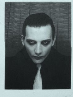 David Vanian in the photo booth