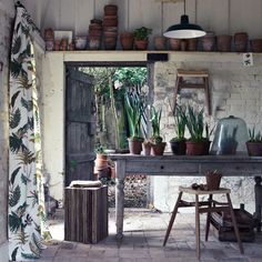 just add in some hanging bunches of dried flowers, and this is my dream potting shed