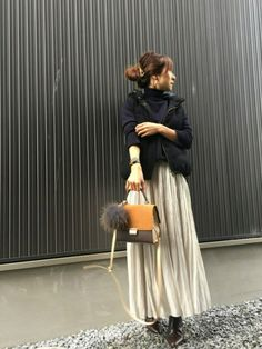Haru☆さんのコーディネート Casual Skirt Outfits, Mode Outfits, Autumn Fashion Women Fall Outfits, Autumn Winter Fashion, Skirt Fashion, Love Fashion, Womens Fashion, Winter Rock, Warm Dresses