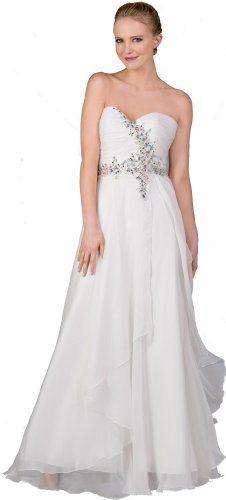 Sweetheart Strapless Chiffon Wedding Dress $159