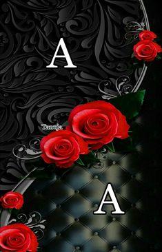 A Letter Wallpaper, Cute Wallpaper Backgrounds, Wallpaper Iphone Cute, Cellphone Wallpaper, Cute Wallpapers, Alphabet Tattoo Designs, Alphabet Letters Design, Alphabet Images, Love Heart Images