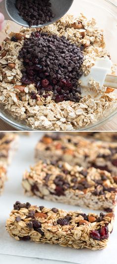 Soft and Chewy Granola Bars - Simple to make and completely flexible. Add what we love or change the recipe up based on what you like!