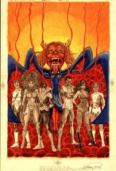 "cantstopthinkingcomics: ""The New Teen Titans by George Perez "" The New Teen Titans, Original Teen Titans, Comic Book Artists, Comic Books Art, Batman Painting, Legion Of Superheroes, George Perez, Dc Comics Art, Comic Page"