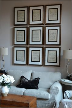 Sheet music in 16 x 20 frames for the piano room