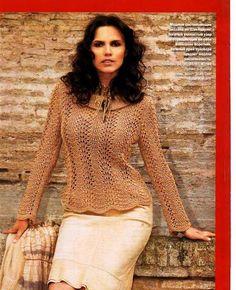 Bronze Love Sleeve Sweater free knitting graph pattern