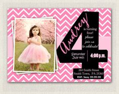 girls rainbow polka dot birthday invitation  custom photo, invitation samples