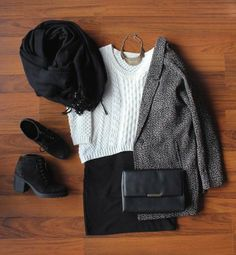 Outfit with VAGABOND Boots (Would LOVE it with a LONGer skirt)