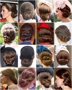 Most of Kate's beautiful updo's from 2016. A round of applause to her talented hairdresser Amanda Cook Tucker.