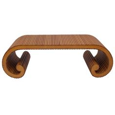 Rattan Scroll Coffee Table | From a unique collection of antique and modern coffee and cocktail tables at http://www.1stdibs.com/furniture/tables/coffee-tables-cocktail-tables/