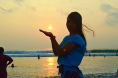 #Catch the #sun #sunset #in #bali #kuta #beach #indonesia
