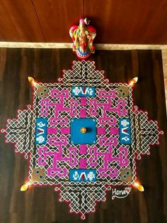 Rangoli Borders, Rangoli Border Designs, Rangoli Patterns, Rangoli Ideas, Rangoli Designs With Dots, Kolam Rangoli, Beautiful Rangoli Designs, Kolam Designs, Coloring For Kids